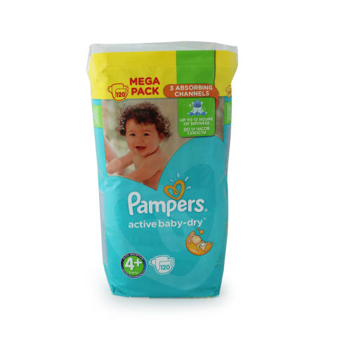 Autiņb. Pampers Active Baby s4+ 120gb