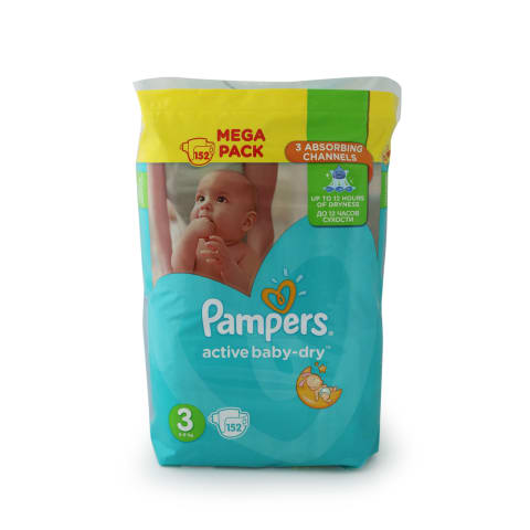 Autiņbiksītes Pampers Active Baby S3 152gab.