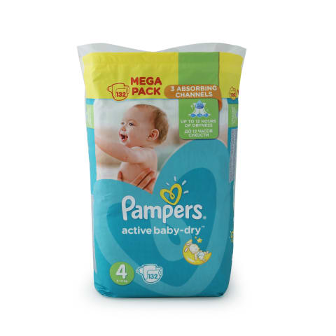 Autiņb. Pampers Active Baby s4 132gb