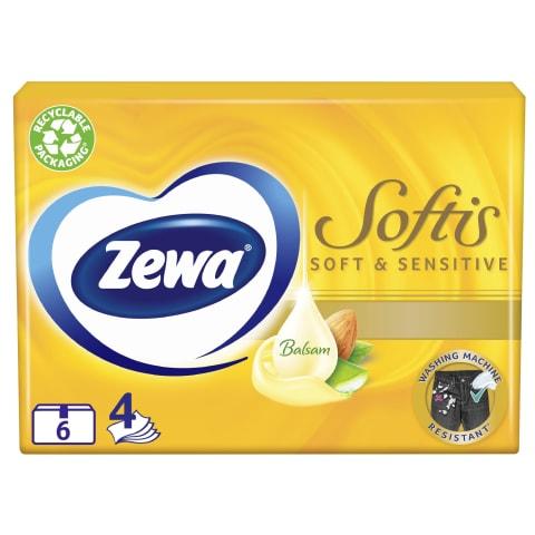 Kabatlakatiņi Zewa Soft&Sensitive 6x9gab