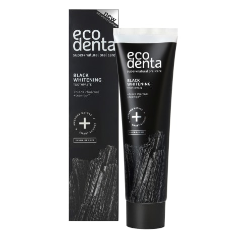 Dantų pasta ECODENTA EXTRA BLACK WHITE,100ml