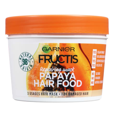 Matu maska Fructis Hair Food Papaya 390ml