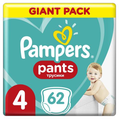 Sauskelnės PAMPERS PANTS GP 4, 9-15kg, 62vnt.