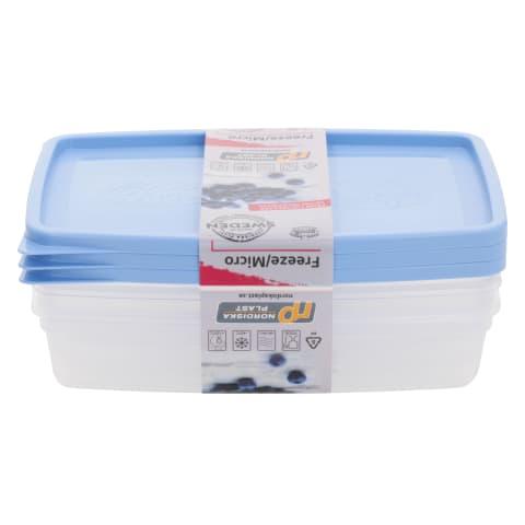 Šaldymo/šildymo maisto dėžutė 3x0,4l