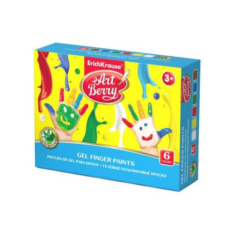 Krāsas zīmēšanai ar pirkstiem ArtBerry 6x35ml