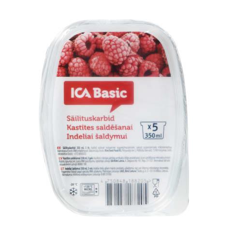 Indeliai maist.šald., ICA BASIC, 350ml, 5vnt.