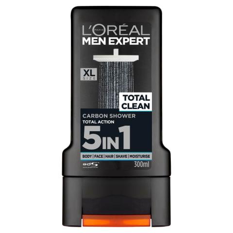 Dušas želeja L'oreal Total Clean 5in1 300ml