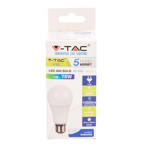 LED Spuldze VT-SAMSUNG 212 E27/A60 11W