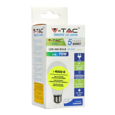 LED Lemputė VT-SAMSUNG 212, E27/A60, 11W