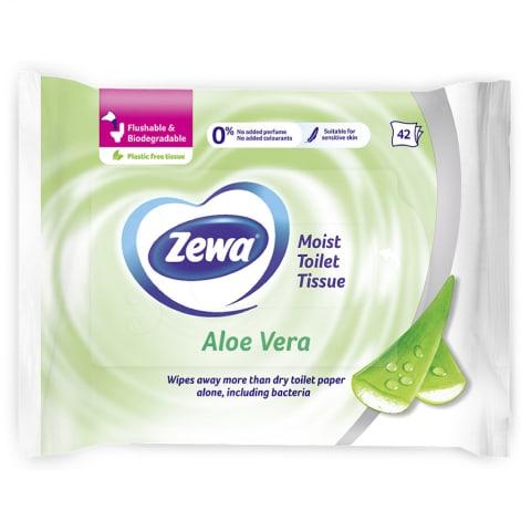 Niisked tualettpaberid Zewa Aloe 42tk