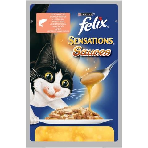 Kons. kaķiem Felix Sensations laša 100g