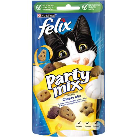 Gard.kaķ. Felix Party Mix Cheezy 60g