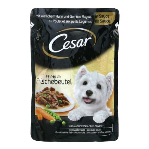 Konservi suņiem Cesar vistas, dārzeņu 100g