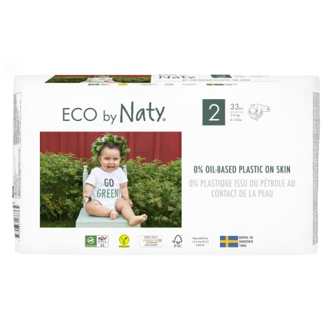 Sauskelnės ECO BY NATY 2, 3-6kg, 33vnt.