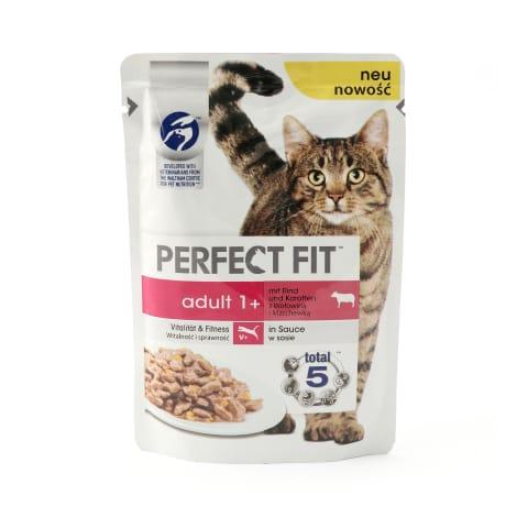 Konservi kaķiem Perfect Fit liellopa 85g