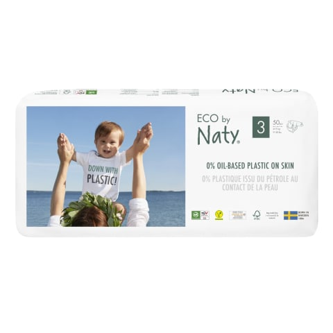 Autiņbiksītes Eco By Naty S3 4-9kg 50gab.