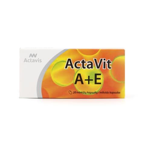 Uztura bagāt. Actavit A+E vit., 20 kaps.
