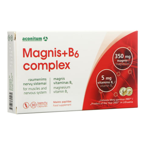 Maisto papildas Magnis+B6 COMPLEX, 30 vnt.