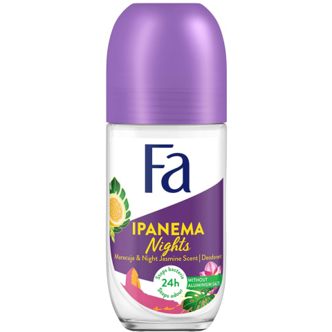 Mot.rut.dezodorantas FA IPANEMA NIGHTS, 50 ml