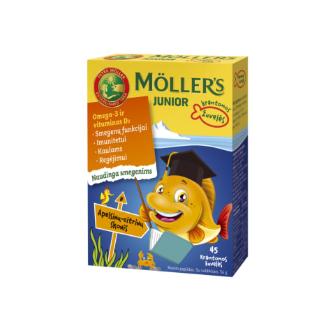 Apelsinų-citrinų skonio Moller's Junior N45