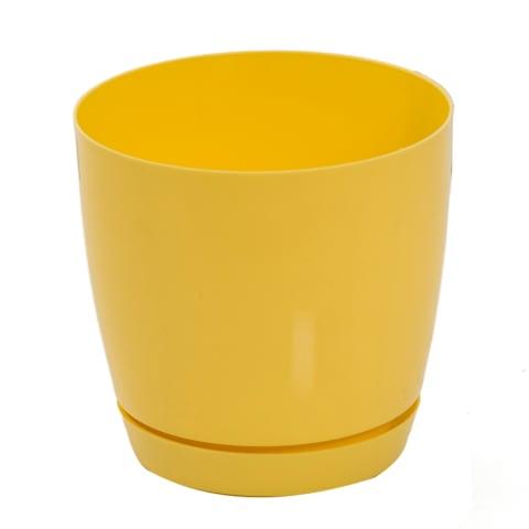 Puķu pods Toscana 11 cm dzeltens