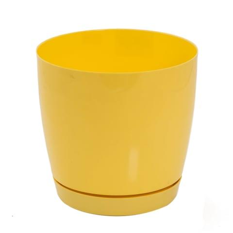 Puķu pods Toscana 15 cm dzeltens