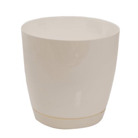 Puķu pods Toscana 19 cm balts