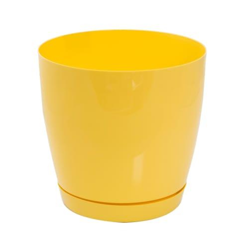 Lillepott Toscana 19 cm kollane