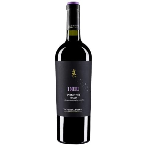Raudonas sausas vynas PRIMITIVO PUGLIA, 0,75l
