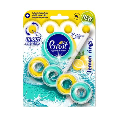 Tualetes bloks Brait Ring Lemon 40g