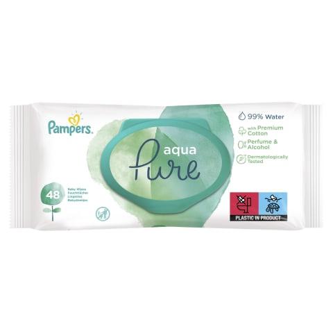 Mitrās salvetes Pampers Aqua Pure 48gab