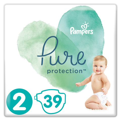 Sauskelnės PAMPERS PURE CARRY PACK 2, 39vnt.