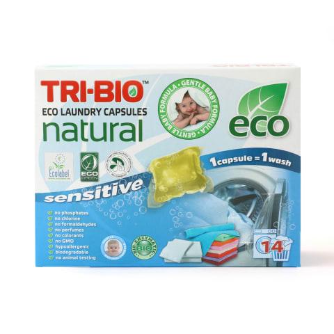 Veļas mazgāšanas kapsulas Tri-bio 14gb