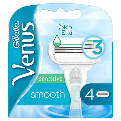 Mot.skust.galvut.VENUS SMOOTH SENSITIVE,4vnt.