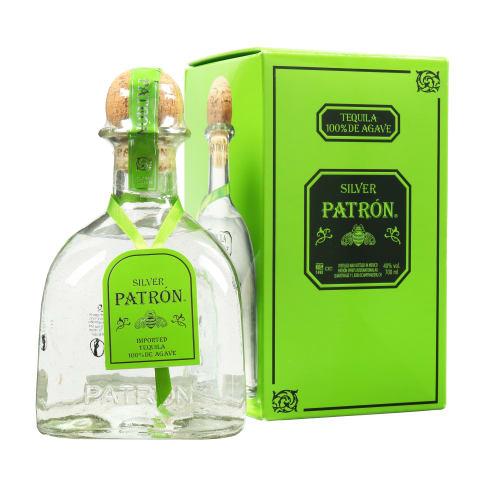 Tekila PATRON SILVER, 40%, 0,7l, dėžutėje