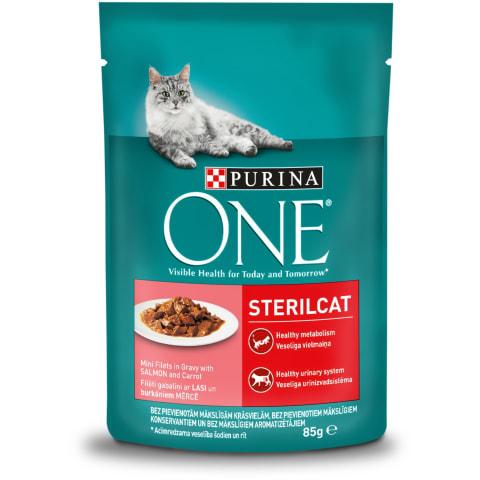 Barība kaķiem One Sterilcat ar lasi 85g