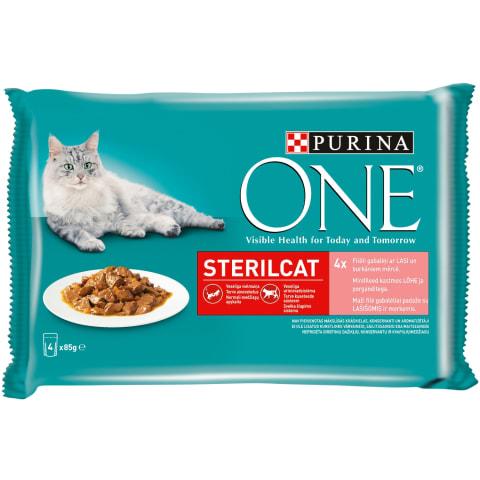 Barība kaķiem One Sterilcat ar lasi 4x85