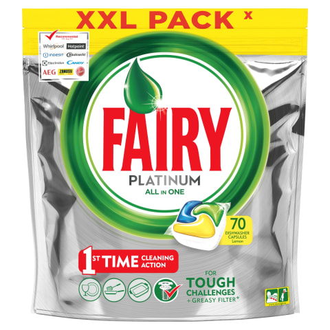 Ind.kaps. FAIRY Allin1 Platinum Lemon, 70vnt.