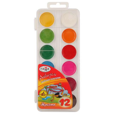 Akvarelė GAMMA MULTIKI, 12 spalvų