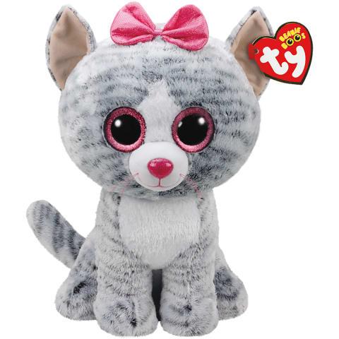 Rotaļlieta KIKI - pelēks kaķis, 40cm