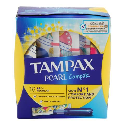Tamponi Tampax Compak Pearl Regular 16gab