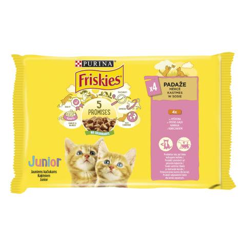 Kaķu konservi Friskies Junior 4x85g