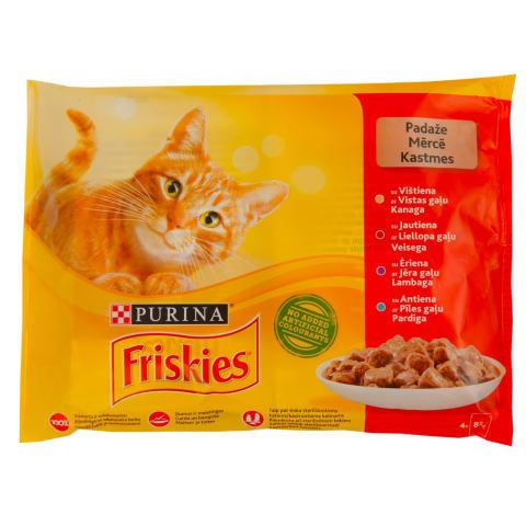 Ėdalas katėms Friskies mėsos kons. 4x85g