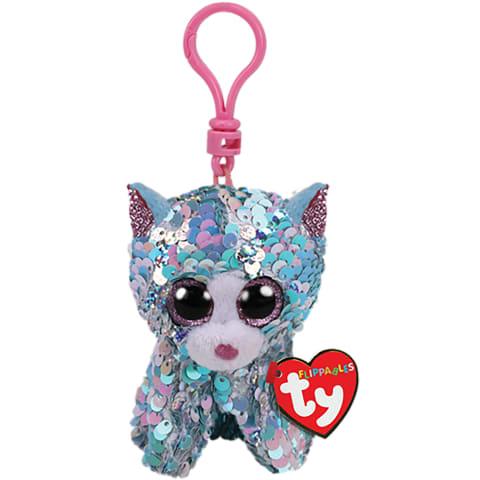Klips TY Whimsy zils kaķis ar fliteriem