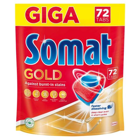 Tr.mazgāšanas tabletes Somat Gold 72gab.