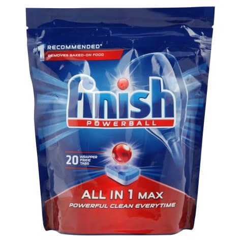 Nõudepesukapslid Finish All in1 max 20tk