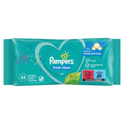 Niisked salvrätikud Pampers Fresh 52tk
