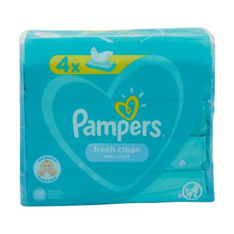 M.salvetes Pampers Fresh Clean, 4x52 pcs