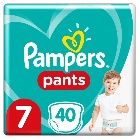 Sausk.Pampers Pants. JP,7 d.,40 vnt.