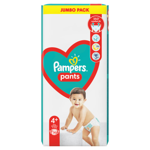 Autiņbik. Pampers Pants Jumbo Pack S4  50 gab